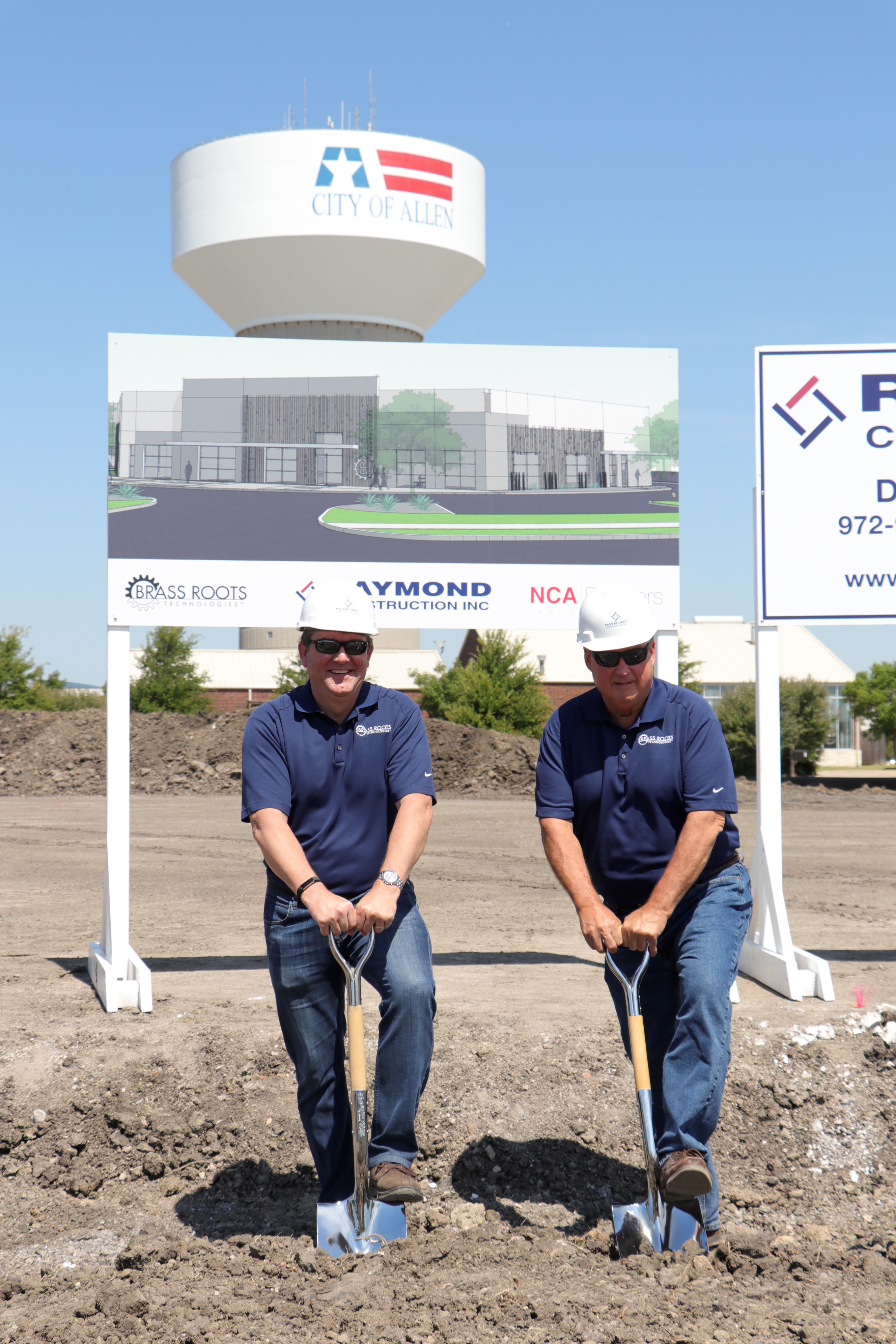 Ground-breaking ceremony for Brass Roots Technologies new headquarters in Allen, TX